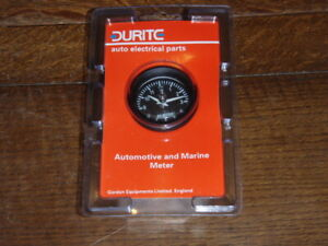 DURITE ILLUMINATED QUARTZ CLOCK 12V / 24V  52 mm diameter  0-523-03