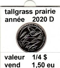 pièces de 1/4 $  tallgrass prairie 2020 D