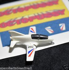 James Bond 007 Corgi Juniors Peel-Off Stickers 4 Octopussy Acrostar Mini Jet
