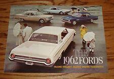 Original 1962 Ford Foldout Sales Brochure Thunderbird Falcon Fairlane Galaxie 62