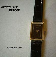 ZENITH  quarzo  oro     CINT. PELLE   Orologio  UNISEX