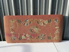 Antique Needlepoint Tapestry Piano Seat Bench Top Lid Cover Cross Stitch Floral