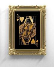 Queen Of Hearts Art Print. Playing cards Art, Queen of Hearts Poster