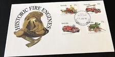 Australian Fdc 1983 Historic Fire Engines