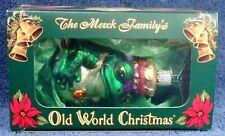 2001 Nib The Merck Family'S King Frog Old World Christmas Ornament