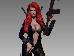 Sexy Black Widow Undressing | Miniature Pin Up | Resin Figure Garage Kit