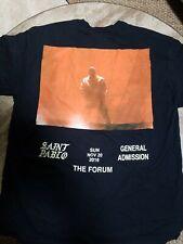 Kanye West Saint Pablo Tour merch Black t-shirts NWOT 2XL, XL