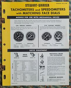 Original Stewart Warner TACH & SPEEDO Catalog 1960 Hot Rod Drag Racing scta nhra