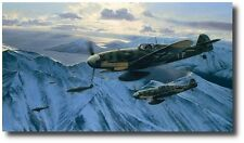 Arctic Hunters by Richard Taylor - Me109 - With 2 Pilot Signatures! -