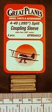 """Split coupling sleeve 4-40 (.095"""") - pack of 4 - Great Planes GPMQ4322"""