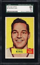 1957-58 Topps #6 George King SGC 86 Near Mint +