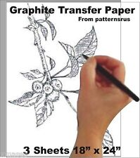 GRAPHITE    TRANSFER   PAPER for WOODWORKING PATTERNS  (patternsrus)