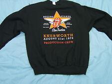 Rolling Stones Lynyrd Skynyrd Knebworth 1976 Production Crew Sweat Shirt