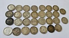 Large Collection of Great British Silver Threepence 3d Coins