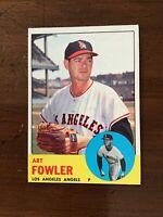 1963 TOPPS BASEBALL CARD ~~ #454 ART FOWLER ~~ LOS ANGELES ANGELS
