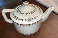 Vintage Sadler Staffordshire England Gold Ivory-Teapot