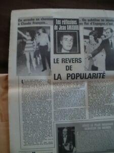 claude francois/rare article journal le herisson/on arrache sa chemise a claude