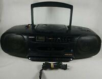 1994 Sony Mega Bass Boombox  CFD-110 CD Radio Cassette-Corder Read Description