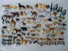 "(98) Hard Plastic Animal Toy Figures Sizes 1.5""~ 4.5"" Sealife Farm Wildlife #2"