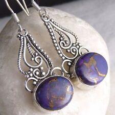 Handmade Turquoise Drop/Dangle Fine Earrings