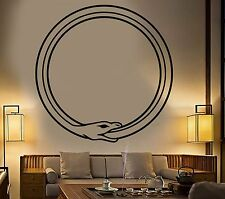 Vinyl Wall Decal Ouroboros Snake Symbol Infinity Circle Stickers (928ig)