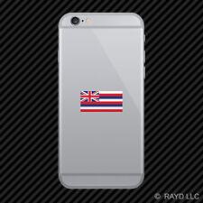 Hawaii Flag Cell Phone Sticker Mobile Die Cut hawaiian state the aloha