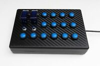 BBJ SimRacing USB 18 function Button Box for PS4 Blue
