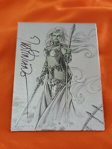Lady Death Chromium Autograph Card Signed By Justiniano Matthias's Misfortunes