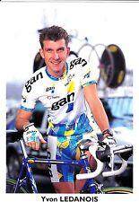 CYCLISME carte cycliste YVON LEDANOIS équipe GAN 97