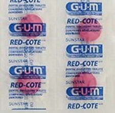 GUM Red-Cote Disclosing Plaque Tablets- Cherry Flavor (40 tablets in a Ziploc)