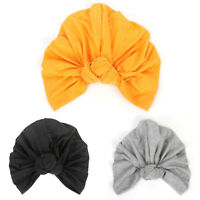 Elastic Knotted Women Cotton Turban Hat Ruffle Head Wrap Cap G5Z
