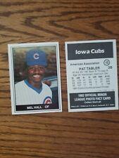 1982 Iowa Cubs Team Set  ( Mel Hall)