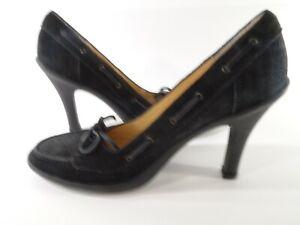 Kors Michael Kors Women's Suede Leather Lace Bow Loafer Rubber Heel Pumps Sz 8.5