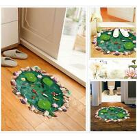 3D Lotus Removable Floor Wall Sticker Mural Decal Vinyl Art Living Room Decor GA