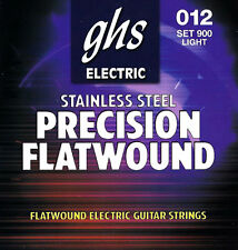 GHS 900 Precision Flatwound electric guitar strings, Light .012-.050