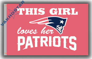 New England Patriots Flag This Girl Loves Her Patriot 90x150cm 3x5ft Pink banner