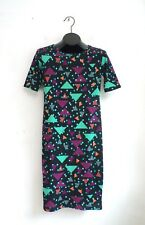 Lularoe Dress Size XS Stretch Knit Bodycon Short Sleeve Geometric Print NEW