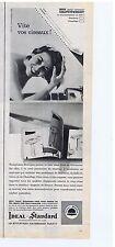 PUBLICITE ADVERTISING 104 1961 IDEAL STANDARD sanitaires chauffage salle de bain