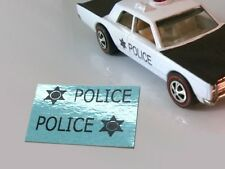 1969 Hot Wheels Redline 'Custom Police Cruiser' Reproduction Decal 6269