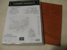 Stampin Up Pleasant Pheasants Clear-Mount Stamp Set New