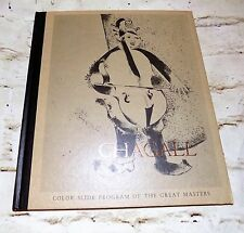 MARC CHAGALL Vintage 1969 Color Slide Program of the Great Master Book Hardcover