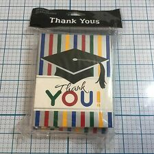 Graduation Stripes Thank You Notes w/Envelopes (25 pack) by CREATIVE CONVERTING