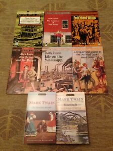Lot of 8 New Mark Twain books paperback Huckleberry Finn & Tom Sawyer & more