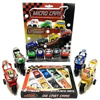 Pack Of Micro Car Motorbike Metal Car Set Die Cast Racing Cars Selection Of Toys