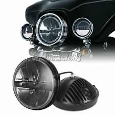 "7"" Projector Daymaker Headlight For Yamaha V-Star XVS 650 1100 Classic Silverado"