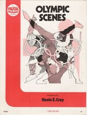 Olympic Scenes Piano Solo, for beginners 1978 vintage sheet music