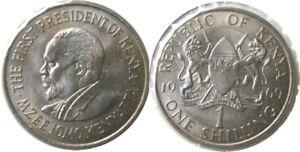 elf  Kenya 1 Shilling 1969 Lion