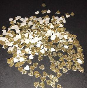 💛 Gold Tiny Glitter Heart Confetti 💛