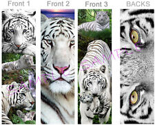 3 LOT-WHITE TIGER BOOKMARK Jungle Animal Cub ART BIG Cat Eyes Card Book Mark