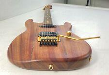 Warmoth Parts Strat Incredible Electric Guitar Case Natural Finish Floyd Padauk